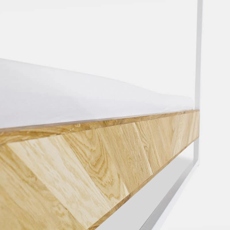 bett mit himmelbett doppelbett massivholzbett holzbett. Black Bedroom Furniture Sets. Home Design Ideas