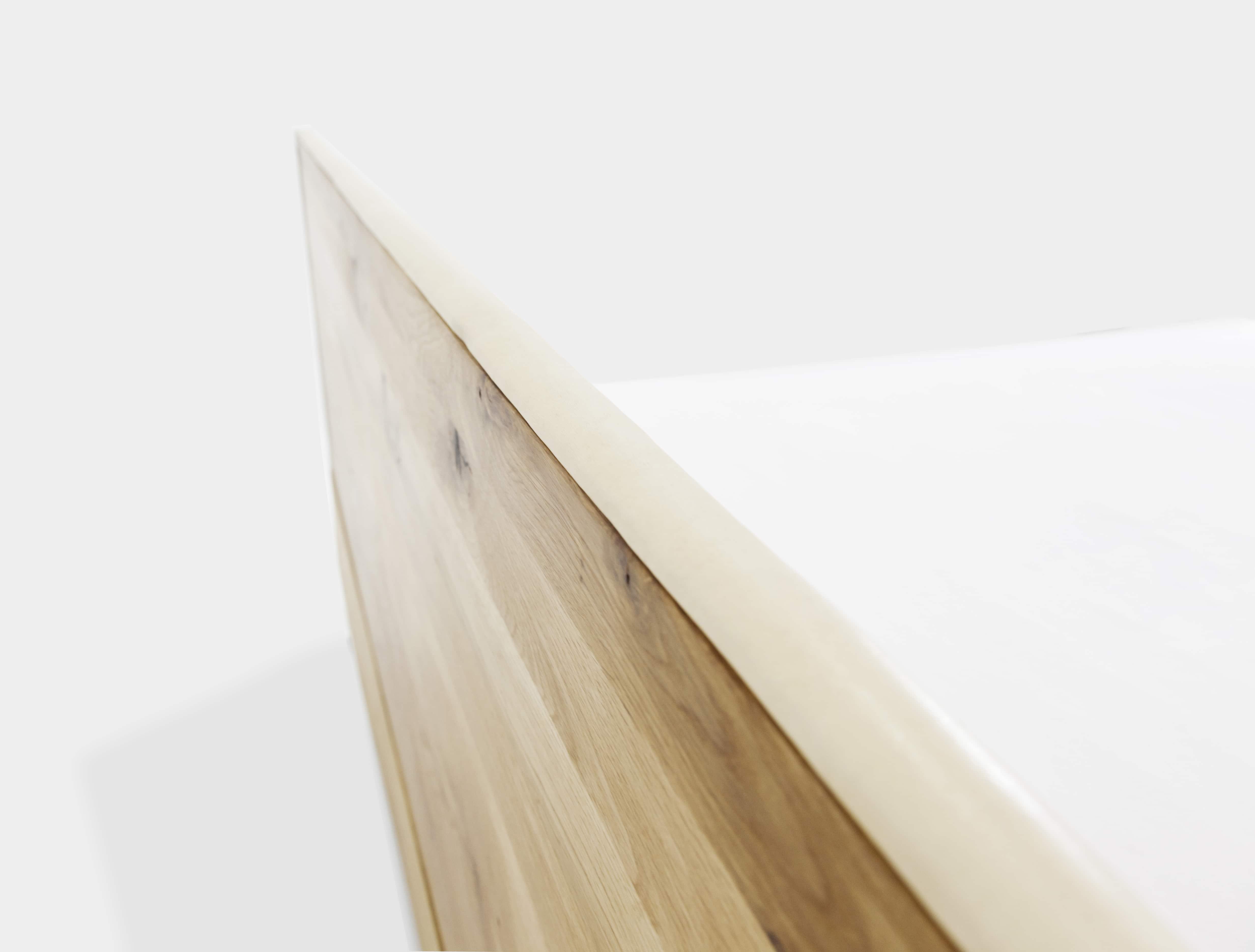 nature leather oak bed leder stahl eiche n51e12 design manufacture. Black Bedroom Furniture Sets. Home Design Ideas