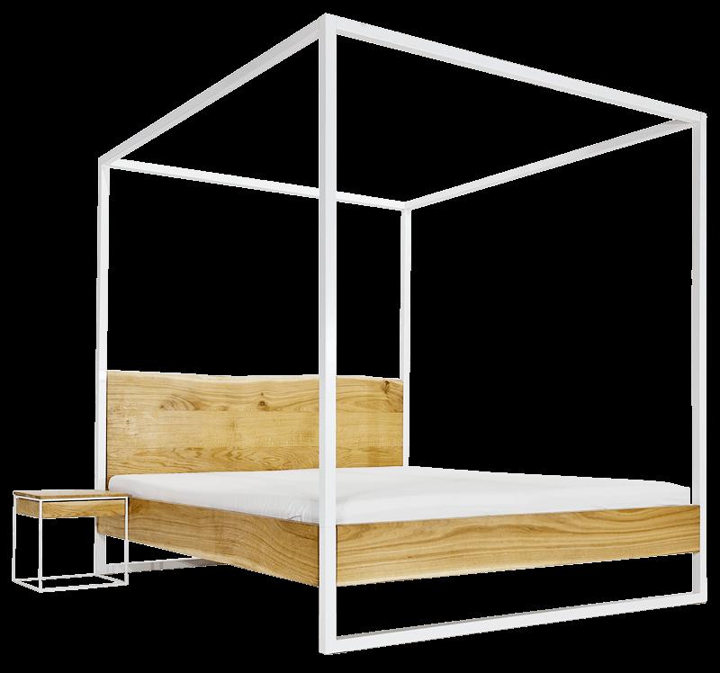 Nature Canopy Bed, Himmelbett aus Eiche und Stahl - N51E12 - design ...