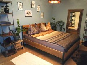 N51E12 - Kundenbild - Loft Vintage Bett - RAL 7016 Anthrazit - Kiefer gebeizt