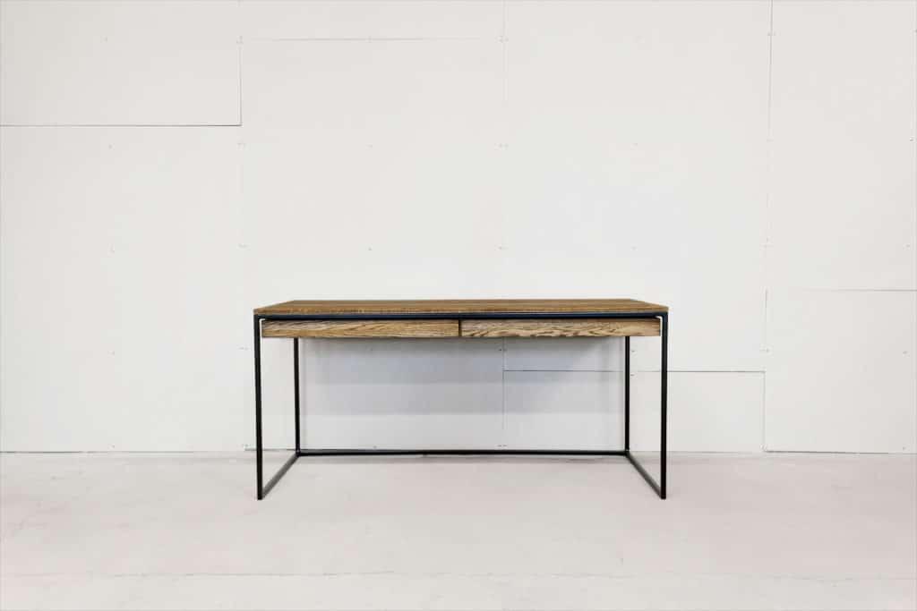 Design Schreibtisch für deinen Loft, passt perfekt in dein Büro, aus Echtholz Eiche und Stahl, Massivholz oder Edelstahl