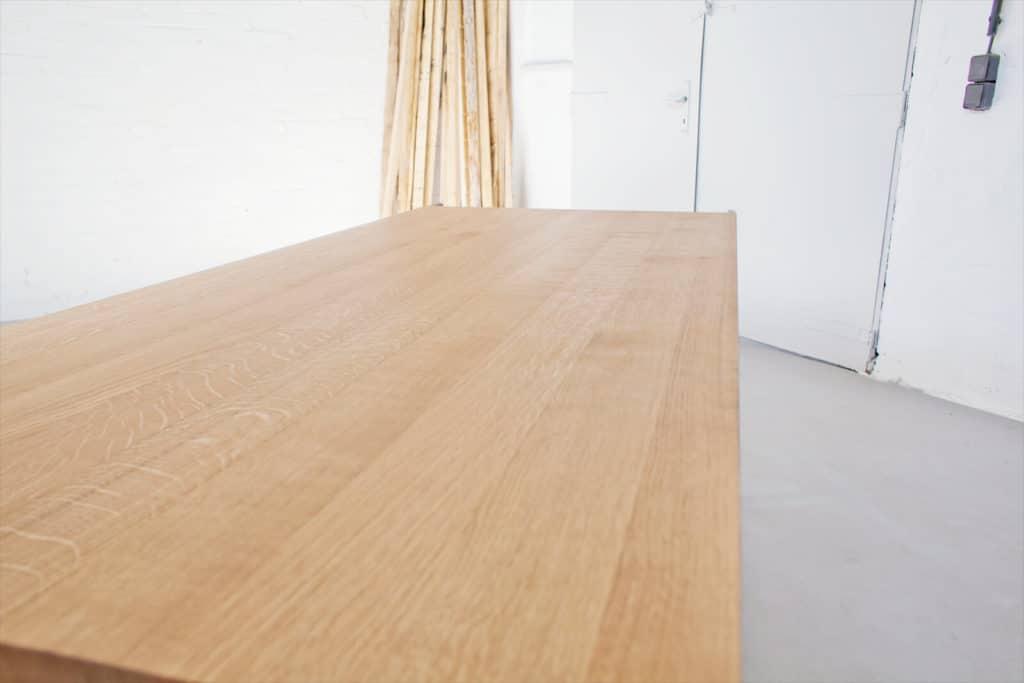 N51E12, Design Esstisch, Konferenztisch, Esstisch aus Massivholz Eiche, Massivholzzisch, Esszimmer; Esstisch Modern, Bauhaus Tisch, Küchentisch, Designer Esstisch