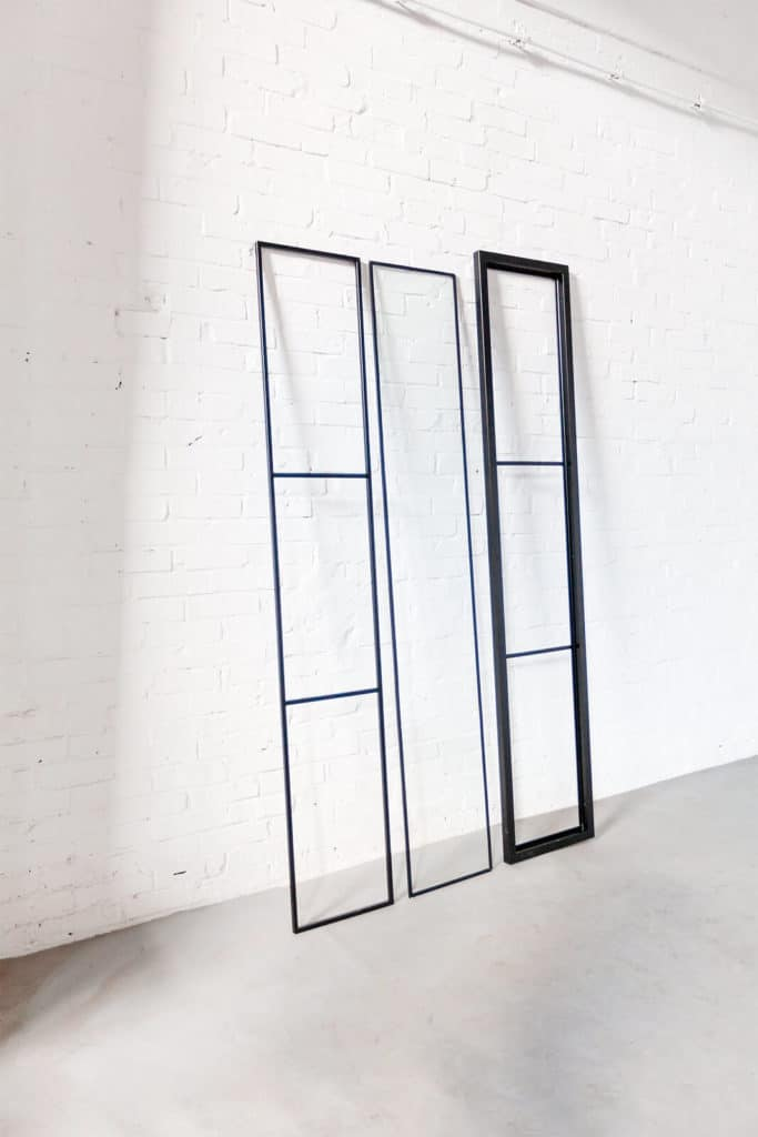 N51E12 - Stahl Loft Glas Element, Trennwand, Windfang, Einzelteile, Stahlrahmen