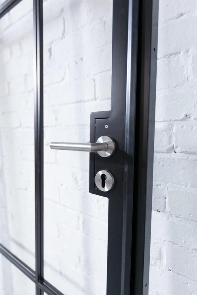 N51E12 - Stahl Loft Tür - Türdrücker, Schlosskasten, Griff