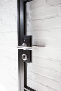 N51E12 Stahl Lot Tür mit Oberlicht und Seitenteil, Glastrennwand, Lofttür, Stahltür, Glastür, Raumtrenner, Bauhausdesign, Bauhaus, Dessau, Loft, Stahl