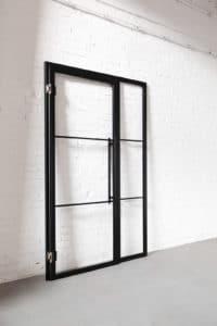 N51E12 Stahl Loft Tür, Glaswand, Glastrennwand, Raumtrenner, Stahl, RAL 9005 Tiefschwarz, Lofttür, Bauhaus Design