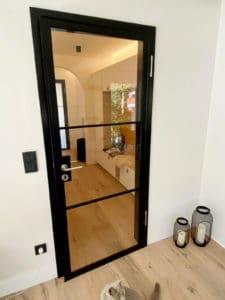 N51E12 - Stahl Loft Tür, Drehtür, Lofttür, Bauhaus Tür, Bauhaus Design, Stahltür, Türzarge,Glastür, Drehtür, Zimmertür