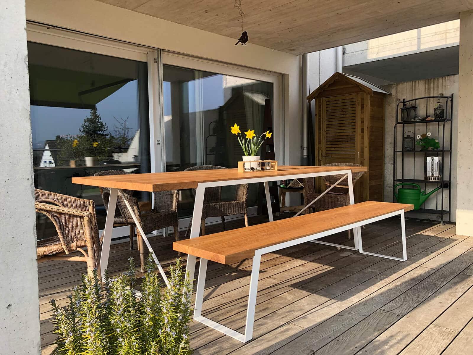 Design Esstisch Massivholz Eiche Tisch 109 N51e12 Design Manufacture