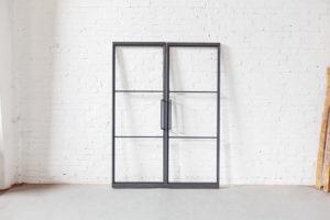 N51E12 Stahl Loft Tür, Pivottür, Doppeltür, Pivot, Raumtrenner, Windfang, Loft, Lofttür, Indusrial Door, Bauhaus Tür, Bauhausdesign