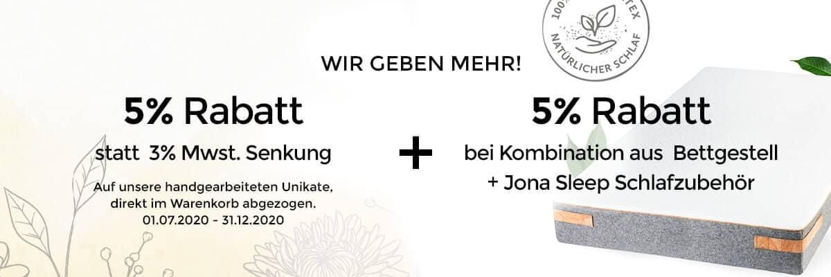 N51E12 - Mwst. Senkung, Shop Rabatt, Jona Sleep Matratze, Lattenrost, Topper