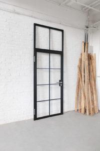 N51E12 - Stahl Lofr Tür, Steel Door, Bauhaus Tür, Loft Tür, Designtür, Drehtür, Raumtrenner, Windfang, Glastrennwand, Oberlicht