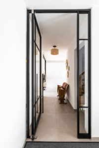 N51E12 Stahl Loft Tür, Pivottür, Einzeltür, Pivot, Raumtrenner, Windfang, Loft, Lofttür, Indusrial Door, Bauhaus Tür, Bauhausdesign
