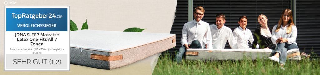 Jona Sleep Pure Matratze aus Naturlatex, perfekt zu unseren Betten und Bettgestellen, Design Matratze, ohne Dämpfe, gesund Schlafen