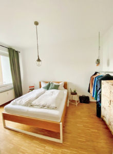 N51E12 - Nature Oak Bett - 160x200 - Loftbett, Designbett, Doppelbett, Eiche, Massivholz, Massivholzbett