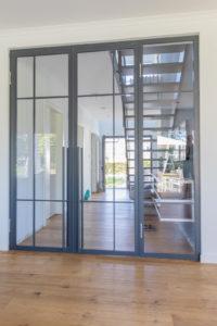 N51E12 - Stahl Loft Tür - Doppeltür, Drehtür, Raumtrenner, Glastrennwand, Flur, Tür, Steel Loft Door, Bauhaus Tür, Windfang