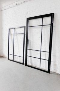 N51E12 Design Stahl Loft Tür, Glastrennwand, Drehtür, Zimmertür, Raumtrenner, Windfang, Trennwand, Stahl, Glas, Lofttür, Steel Door, industrial Door mit Seitenteil