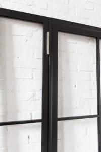 N51E12 Design Stahl Loft Tür, Glastrennwand, Drehtür, Zimmertür, Raumtrenner, Windfang, Trennwand, Stahl, Glas, Lofttür, Steel Door, industrial Door