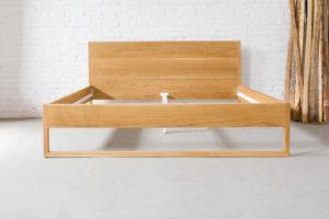 N51E12 Design Massivholzbett aus Eiche, Massivholz, Bettrahmen, Bettgestell, Designbett, Doppelbett, 200x200, Loftbett, Vollholz, Echtholz
