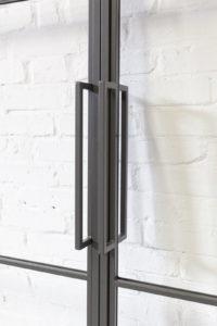 N51E12 Stahl Loft Tür Doppeltür, Schiebetür, Softclose, Stahlrahmen, Glastür, Glastrennwand, Raumtrenner, Lofttür, Bauhaus Design, Bauhaus Tür, Doppelschiebetür, Industrial Door, Steel Door