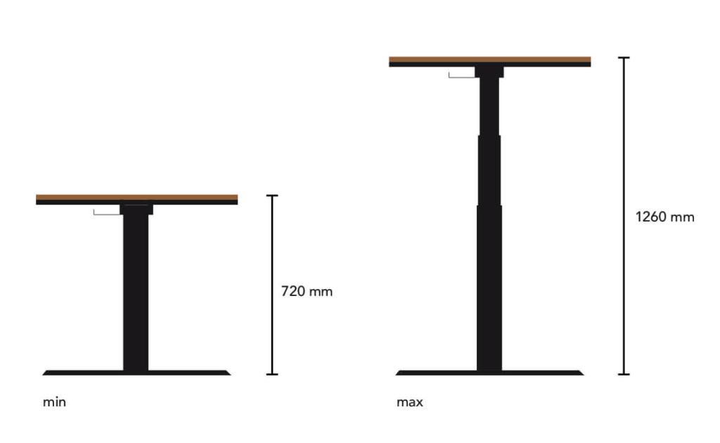 N51E12 elektrisch höhenverstellbarer Schreibtisch