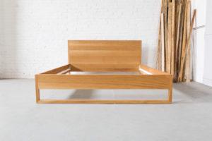 N51E12 Pure Oak Bett, Massivholzbett aus Massivholz Eiche, Loftbett, Doppelbett, Designbett, 180x200, Loftbett, Loft, Eiche, Doppelbett, Bettrahmen