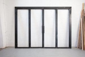N51E12 Stahl Loft Tür, Drehtür, Raumtrenner, Lofttür, Stahl Tür, Glastrennwand, Stahlrahmen, Brüniert, Industrial Door, Glastrennwand, Designtür, Glastür, Steel Door