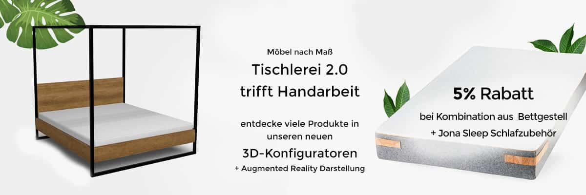 Startseite Shop Banner 3D Konfigurator Möbel nach Maß