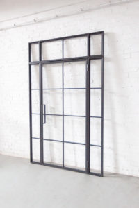 N51E12 Stahl Loft Tür, Drehtür, Glasttür, Glastrennwand, Loftür, Windfang, Raumtrenner, Zimmertür, Stahltür, Glastür, Steeldoor, Industrial Door, Lofttür, Loftdoor