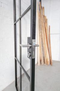 N51E12 - Stahl Lofr Tür, Steel Door, Bauhaus Tür, Loft Tür, Designtür, Drehtür, Raumtrenner, Windfang, Glastrennwand, Schlosskasten, Steeldoor, industrial door, loftdoor, Glastür, Stahlrahmentür