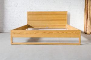 N51E12 Pure Ash Bett, Massivholzbett aus Massivhollz Esche, Doppelbett, 180x200, Bettrahmen, Holzbett, Holzgestell, Bettrahmen, Designbett, Doppelbett