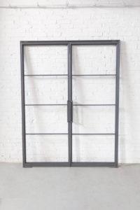 Loftstahl, N51E12 Stahl Loft Tür, Doppeltür, Pivottür, Schwingtür, Lofttür, Glastür, Glastrennwand, Designtür, Stahltür, Glastür, Windfang, Loft, Raumtrenner, Glastrennwand, Flurtür, Bauhaus, Bauhaus Design