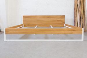 N51E12 270x200 Nature Oak Bett aus Massivholz Eiche, Massivholzbett, Loftbett, Doppelbett, Stahlrahmen, Stahlbett, Metallbett, Metallrahmen, Bettrahmen, Loftbett, Loft, Familienbett, Sondergröße, Übergröße
