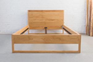 N51E12 Pure Oak Bett, Massivholzbett aus Massivholz Eiche, Doppelbett, 140x200, Bettrahmen, Holzbett, Holzgestell, Bettrahmen, Designbett, Doppelbett