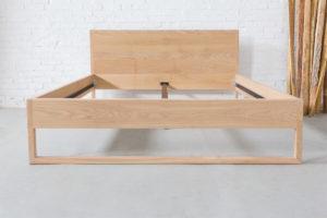 N51E12 Pure Oak Bett, Massivholzbett aus Massivholz Eiche, Doppelbett, 180x200, Bettrahmen, Holzbett, Holzgestell, Bettrahmen, Designbett, Doppelbett