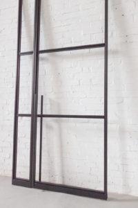 N51E12 Stahl Loft Tür, Glastrennwand aus Stahlrahmen, Stahlrahmentü, Pivot, Pivottür, Schwingtür, Stahlrahmentür, Glastür, Raumtrenner, Windfang, lofttür, steel door, industrial door