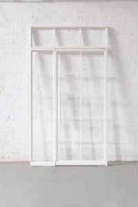 N51E12 Glastrennwand Stahl Loft Tuer aus Glas und Stahl, Stahlrahmen, Pivot, Pivottür, Schwingtür, Oberlicht, Designtür, Loftür, Bauhaustür, industrial door, loftdoor, steel door