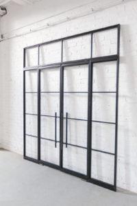 N51E12 Stahl Loft Tür, Doppeltür, Pivot, Pivottür, Schwingtür, Glastrennwand, Lofttür, Windfang, Glastür, Stahlrahmen, Stahltür, Metalltür, Industrial door, loftdoor, Bauhaus Tür, Bauhaus