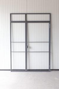 Loftstahl - N51E12 Stahl Loft Tür, Designtür, Drehtür, doppeltür, Glastür, Glastrennwand, Loftdoor, Industrial Door, Designdoor, Steeldoor, Stahltür, Windfang, Einzeltür