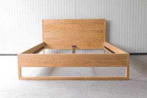 N51E12 Pure Oak Bett, Massivholzbett aus Massivholz Eiche, Doppelbett, 160x200, Bettrahmen, Holzbett, Holzgestell, Bettrahmen, Designbett, Doppelbett
